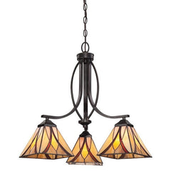 Quoizel Asheville 3 Light Chandelier - London Lighting - 1