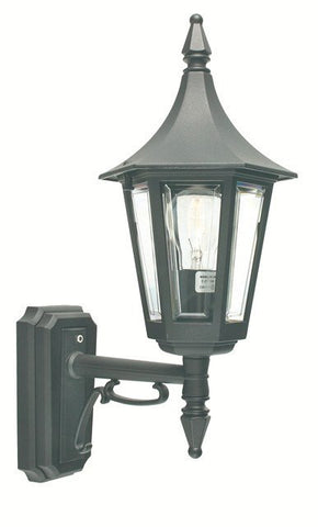 Rimini Black Up Wall Lantern - London Lighting - 1