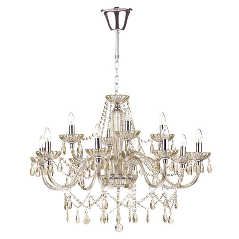 Raphael Champagne Gold 12 Lights Chandelier - London Lighting - 1