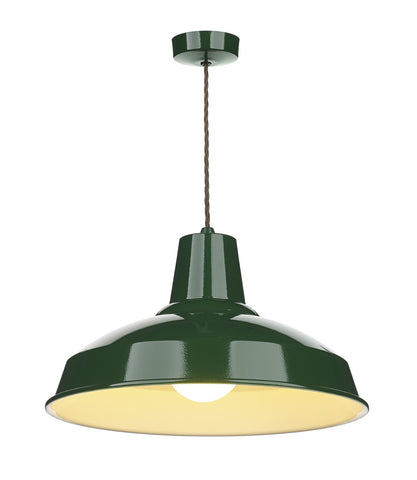 Reclamation Green Lamp Ceiling Light - London Lighting - 1