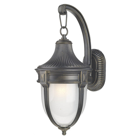 Richmond Black Gold Large Wall Bracket - London Lighting - 1