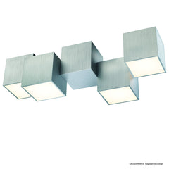 Grossmann Rocks Four Lamp Flush Ceiling Light - Colour Options