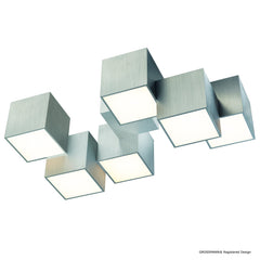Grossmann Rocks Six Lamp Flush Ceiling Light - Colour Options