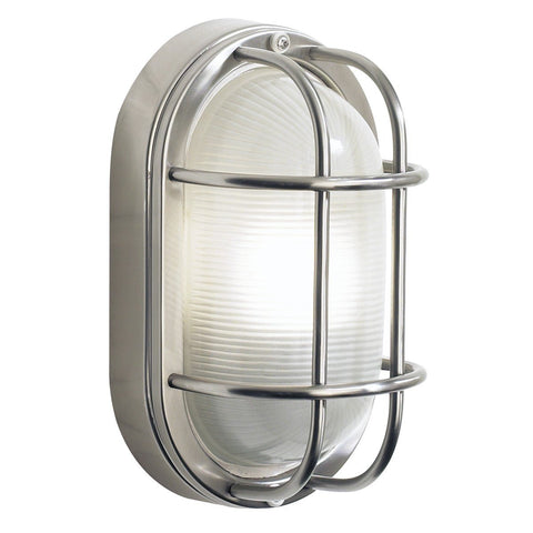 Salcombe Small Oval Steel Wall Light - London Lighting - 1