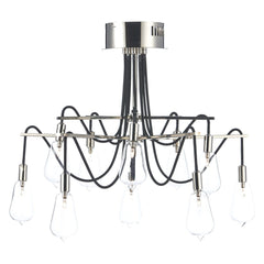Scroll Polished Nickel 10 Lights Semi-Flush - London Lighting - 1