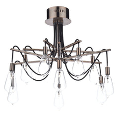 Scroll Copper 10 Lights Semi-Flush - London Lighting - 1