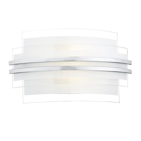 Sector White Small Double Trim Led Wall Bracket - London Lighting - 1