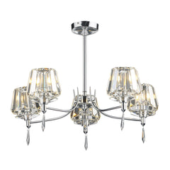 Selina Polished Chrome 5 Lights Semi-Flush - London Lighting - 1