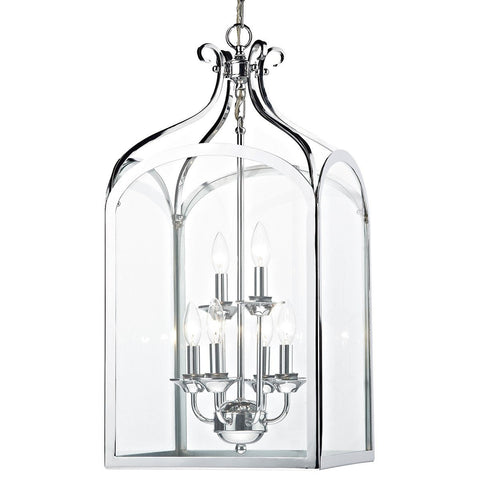 Senator Polished Chrome 6 Lights Pendant Light - London Lighting - 1