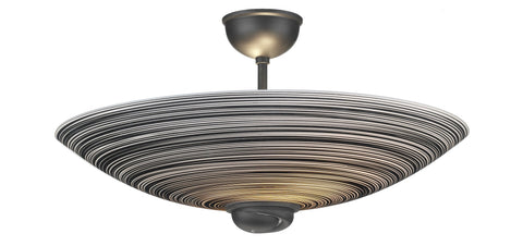 Swirl Black Semi Flush Ceiling Light - London Lighting - 1