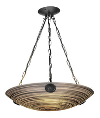Swirl Black Glass Ceiling Light - London Lighting - 1