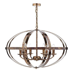 Symbol Copper 6 Lights Pendant Light - London Lighting - 1