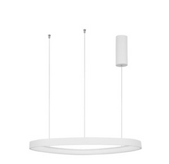 EST Dimmable Sandy White Aluminium & Acrylic Inner Ring Pendant - ID 10213