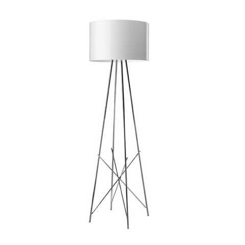 FLOS Ray F1 Small Floor Lamp  - White Metal - London Lighting - 1