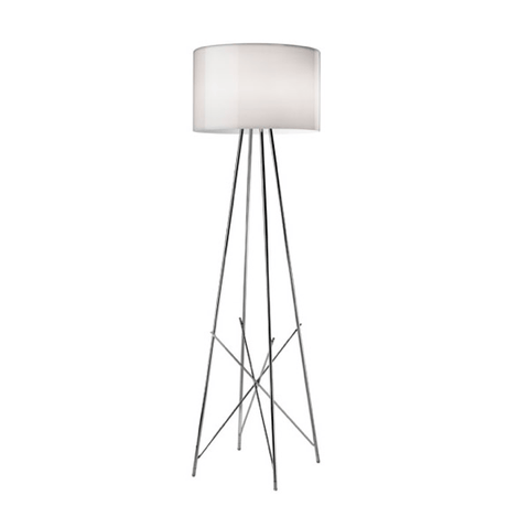 FLOS Ray F1 Small Floor Lamp  - Grey Glass - London Lighting - 1