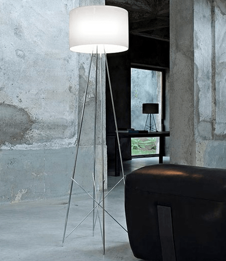 ... FLOS Ray F2 Large Floor Lamp   Grey Glass   London Lighting   3 ...