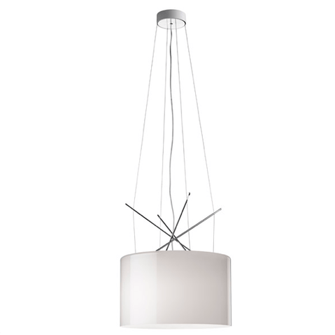 FLOS Ray S Grey Glass Suspension - London Lighting - 1
