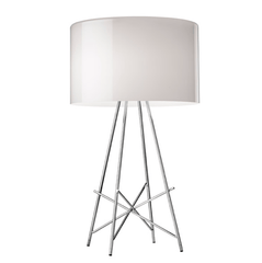 FLOS Ray T Grey Glass Table Lamp - London Lighting - 1