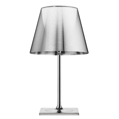 FLOS KTRIBE T2 Aluminised Silver Table Lamp with Dimmer - London Lighting - 1