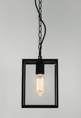 Homefield Black Outdoor Pendant - London Lighting - 1