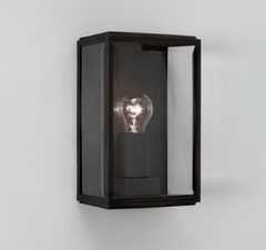 Homefield Black Outdoor Wall Light - London Lighting - 1