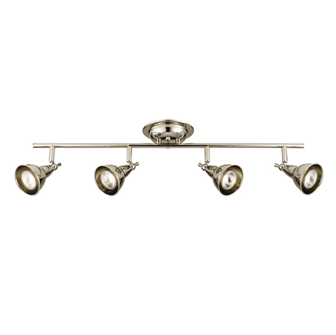 Four Head Nickel LED Spotlight - London Lighting