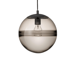 Setto Round Smoked Glass Single Pendant - ID 6994