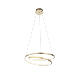 Gold Spiral LED Pendant Light - ID 7024