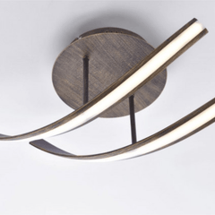 Curved Steel Ceiling Lamp In Rust Finish - ID 6769