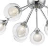 Polished Chrome and Glass Semi-Flush Light - ID 6854