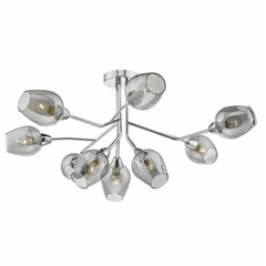West Drayton Polished Chrome and Glass Semi-Flush Light - ID 6806