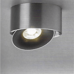 Directionable Flush Ceiling Light in Matt Aluminium - ID 7423