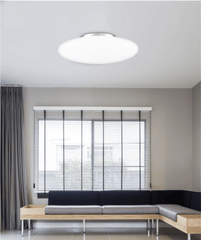 Large Opal Glass & Chrome Metal Ceiling Light- ID 7380