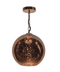 Widmore Copper and Glass Single Pendant ID - 5711