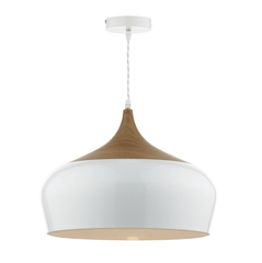 Sutton White Large Single Pendant - ID 5943