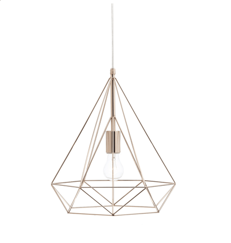 Roehampton Bright Copper Wire Single Pendant - ID 5838