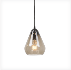 Large Smoked Glass Pendant - ID 6603
