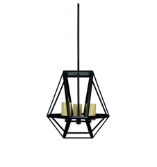 Walthamstow Matt Black Large Contemporary Abstract Lantern - ID 6481