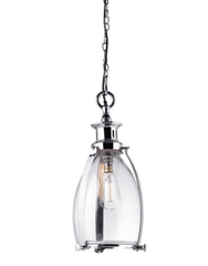 Small Polished Nickel Bell Pendant - ID 5637