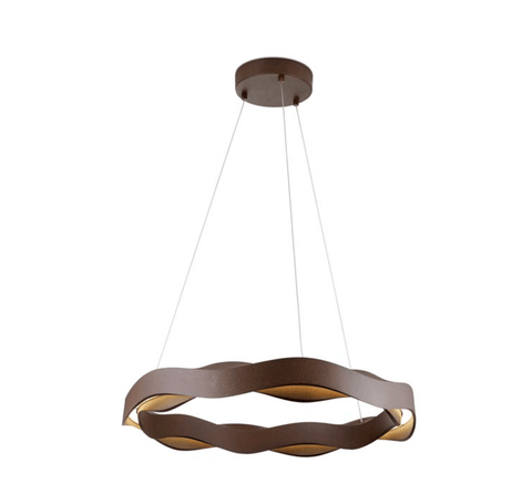 Mornington Brown Curved Ring Pendant - ID 7590