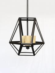 Walthamstow Matt Black Small Contemporary Abstract Lantern - ID 6480