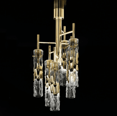 Becton Murano Glass 6 Light Ceiling Semi Flush Chandelier - ID 8050