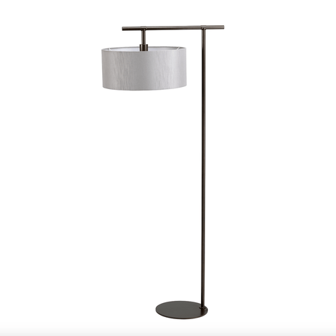 Climping Bronze and Grey Floor Lamp - ID 6508
