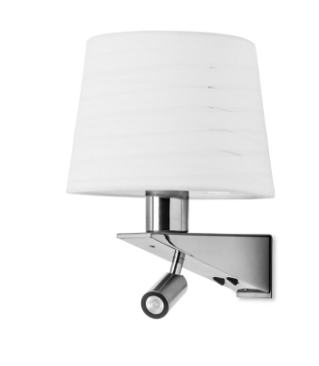 Brentwood Wall Light With LED Reading Module In Satin Nickel - ID 5274