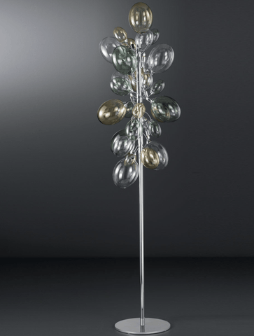 Ballon Bespoke Italian 8 Lamp Floor Light with Blown Glass - Colour Options
