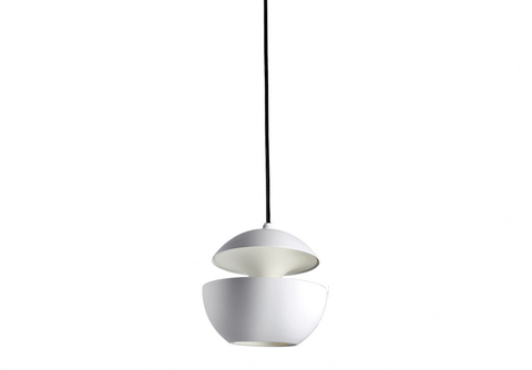 10cm Diameter Mini Aluminium Globe Pendant In White - ID 8001