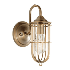 Charlton Outdoor 1 Light Wall Light In Dark Antique Brass - ID 6309