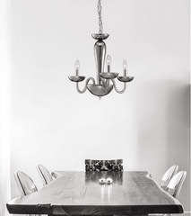 Chingford 3 Lamp Smoked Glass & Chrome Chandelier - ID 8011