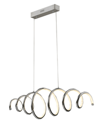 Curl Chrome Finish Pendant Lamp - ID 7975