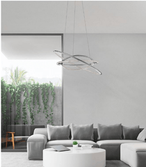 Chrome Finish & Chrystal Suspension 60cm Pendant - ID 7486